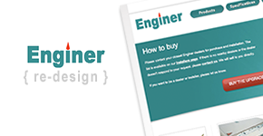 Enginer.us redesign / re-skining from psd
